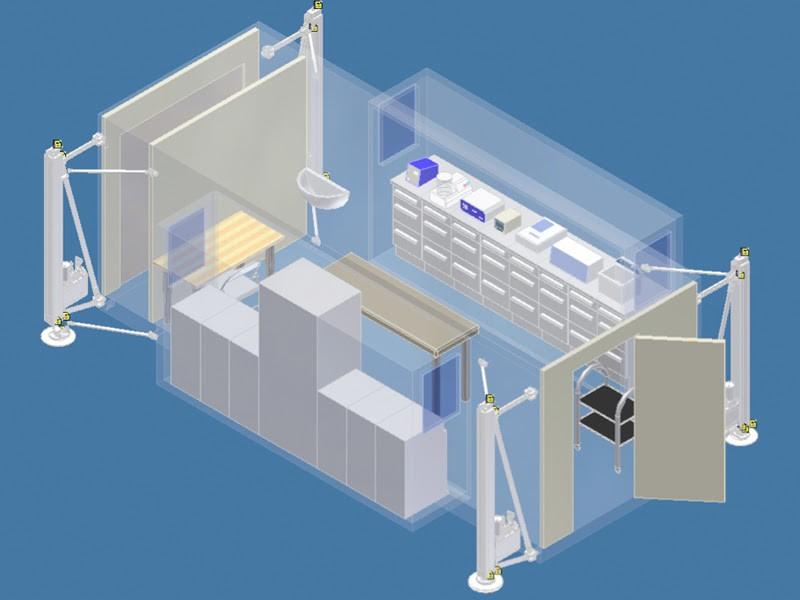 imagen de Laboratorios prefabricados y cabinas sanitarias modulares frente al Covid-19